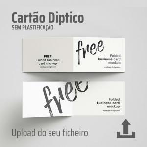 Cartão de visita díptico sem plastificação